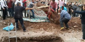 Kocaelide 2 bin yıllık heykelin başı için kazı yapılacak
