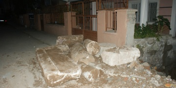 Samsunda Roma dönemine ait sütunlar bulundu