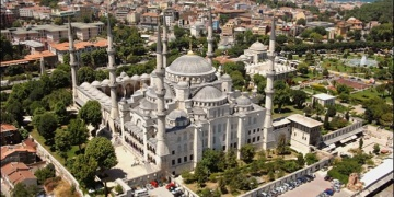 Sultanahmet Camisinin 4 minaresi sökülüp yeniden örülüyor