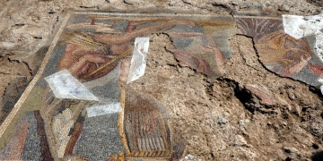 Kırıkkalede bugday tarlasında mozaik bulundu