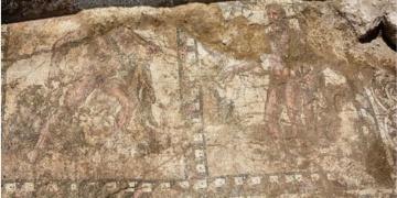Güney Kıbrısta Herkülü betimleyen bir mozaik bulundu.