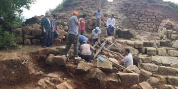 Orduda bulunan 2 bin 300 yıllık kalede kazılar yeniden başladı