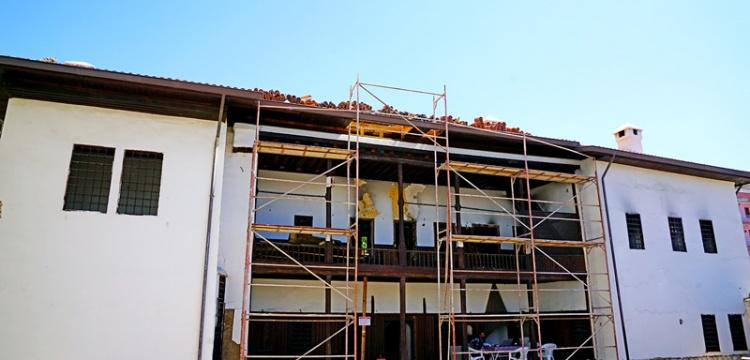 Malatya'da yangında zarar gören tarihi konak restore ediliyor