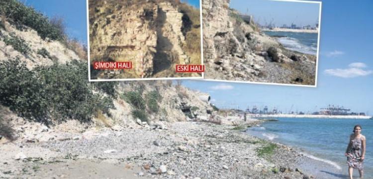 Keşfedilen antik liman moloza gömüldü!