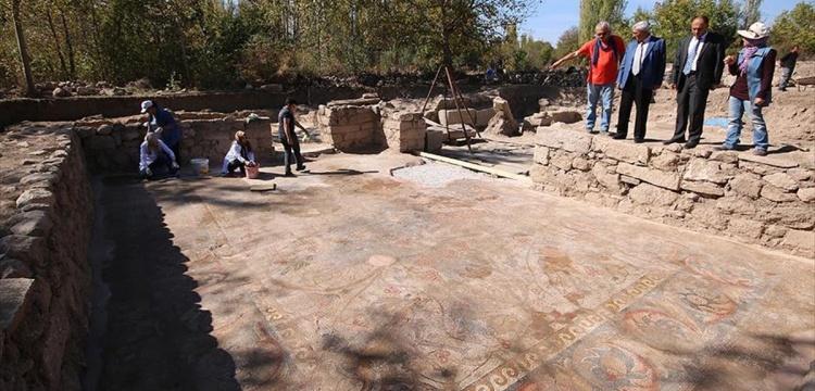 Mozaik tarlası'nda bin 500 yıllık sikke bulundu