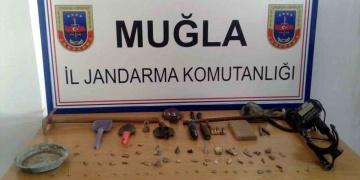 Muğlada tarihi eser ve kaçak kazı operasyonu