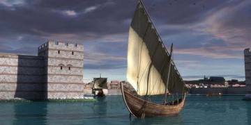 Bin 200 yıllık Bizans teknesi denizle buluşacak