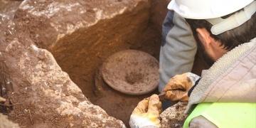 Milastaki inşaatta bir de ölü saklama kabı çıktı