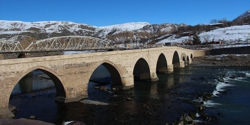 Tarihi ilçe Paludan kış manzaraları