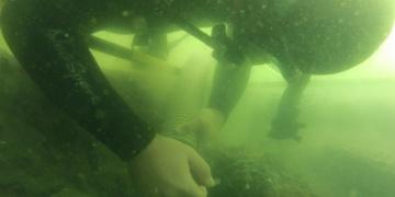 Didim açıklarında batık savaş gemisi enkazı bulundu