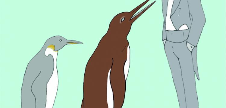 61 milyon yıllık dev penguenin ayakları bulundu