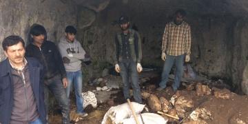 Vizede Mağarada kaçak kazı