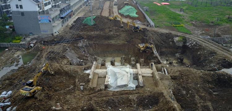 Çin'de gömülen Ming Hanedanı köprüsü çıkarıldı