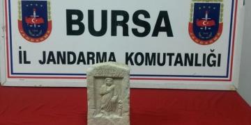 İstanbulda bulunan mezar steli Bursada yakalandı