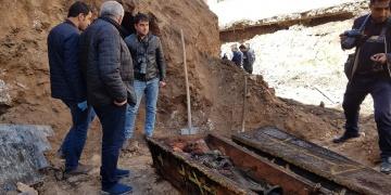 Ardahanda gömülen Rus subayının iskeleti bulundu