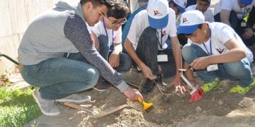 Adıyamanda öğrenciler arkeolojik kazı çalışması yaptı