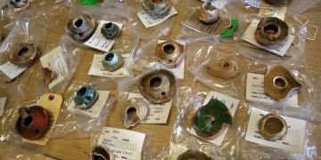 Kültür İnanç Parkında bulunan arkeolojik eserler temizlendi