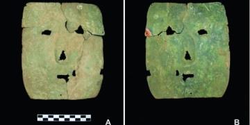 Arjantinde 3 bin yıllık dikdörtgen bakır maske bulundu
