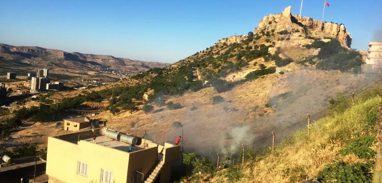Mardin Kalesi eteklerinde yangın