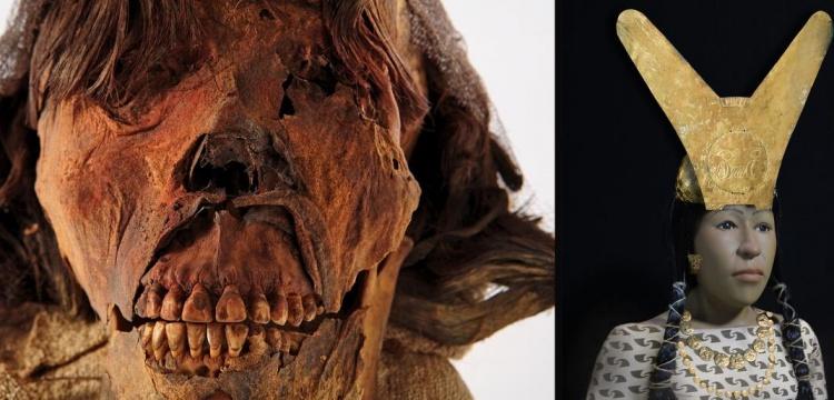 Moche Uygarlığı Kraliçesinin yüzü 700 yıl sonra yeniden tasarlandı.