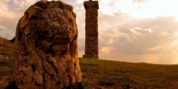 Karakuş Tümülüsündeki aslan heykeli tahrip edildi