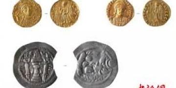 Çindeki mezardan Bizans altınları ve Sasani sikkesi çıktı
