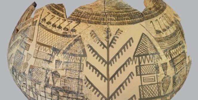 Domuztepede yaşam ağacı motifi bulundu