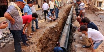 Aydında su borusu döşenirken tarihi mezar bulundu