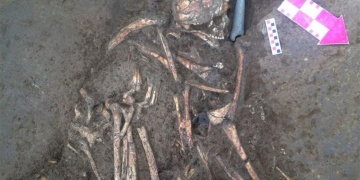 Beşiktaş arkeoloji kazılarında taş baltalı mezar bulundu