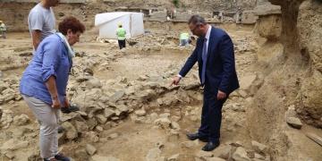Beşiktaş arkeoloji kazılarında kurgan bulundu