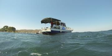 ANKÜSAMın arkeolojik araştırma teknesi denize açıldı