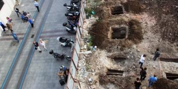Çanakkalede AVM inşaatında arkeolojik kalıntılara rastlandı