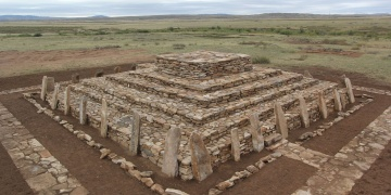 Kazakistanda bulunan piramit restore edildi