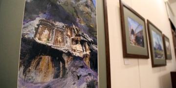 Mersinin arkeolojik alanları tuvale yansıtıldı