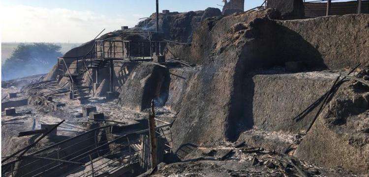 Yangın Peru'da arkeolojik alana büyük zarar verdi