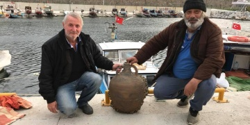 Karamürselli balıkçılar Bizans amforası tuttu!