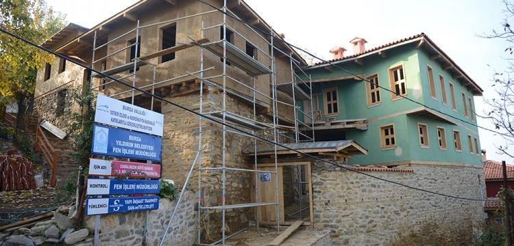 Cumalıkızık'ta restorasyon çalışmaları sürüyor