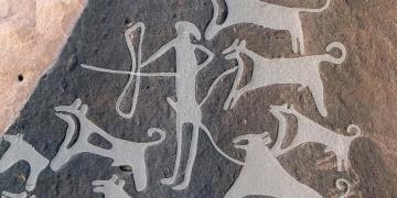 Arabistanda bilinen en eski tasmalı köpek çizimi bulunmuş olabilir