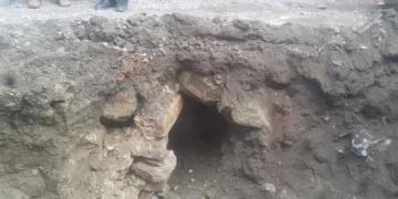 Çorumda keşfedilen tarihi tünelin ne olduğu araştırılıyor