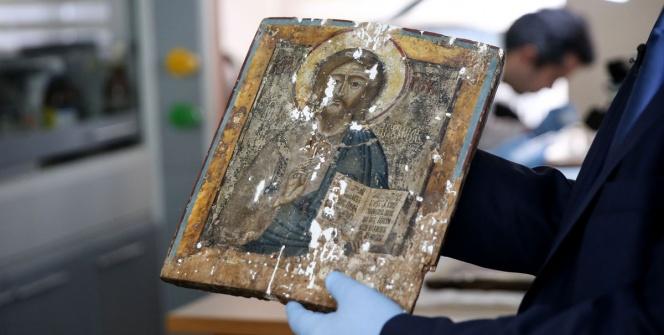 Ayasofyanın ikonaları konservasyonda