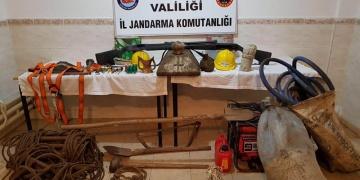 Balıkesirde Sit Alanındaki kaçak kazıya suçüstü