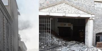 İzmirde restore edilen binada yangın çıktı