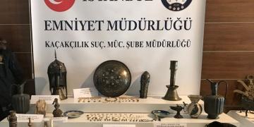 İstanbulda 242 parça tarihi eser yakalandı