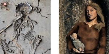 6 bin yıllık bebeğin kemikleri annesinin koynunda bulundu