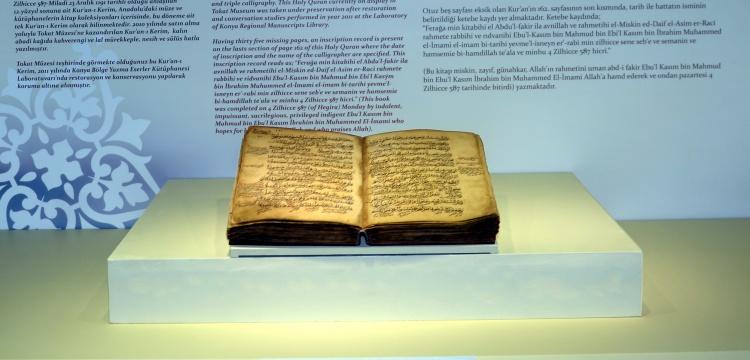 Anadolu'da yazılan en eski Kur'an-ı Kerim