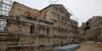 Enez Kalesindeki Fatih Camisi restore ediliyor
