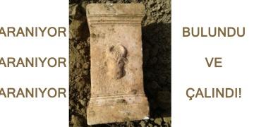 Afyonkarahisarda bulunan 1700 yıllık mermer sunak çalındı