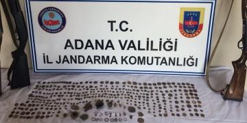 Adanada tarihi mühür, sikke ve yüzükler yakalandı