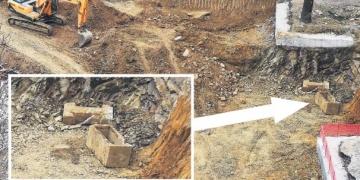 Kadıköyde lise inşaatından arkeolojik bulgular çıktı