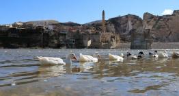 Hasankeyf ağır ağır yükselen baraj sularına gömülmeye başladı